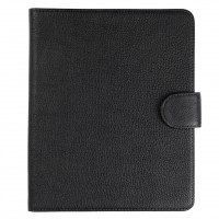 Textured Black Leather iPad Cover Sleeve.