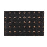 Studs Effect Printed Leather Large Wallet