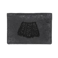 Somnus Aeternus Leaves Black Victorina Lace Card Holder
